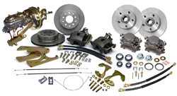 1955-57 Chevy Fullsize Impala Belair Biscayne Front and Rear Power Disc Brake Conversion Kit