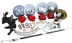 "1968-74 Chevy Nova Front and Rear Power Disc Brake Conversion Kit, 2"" Drop Spindles"