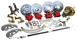 1967-69 Chevy Camaro 4 Wheel Power Disc Brake Conversion, OE Spindles
