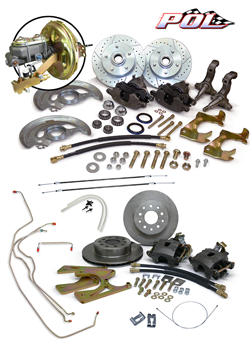 1968-74 Chevy 2 Nova Front and Rear Power Disc Brake Conversion Kit