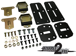 Adjust-2-Fit Adjustable Chevy LS Engine Adapter Kit with Poly Urethane Pads