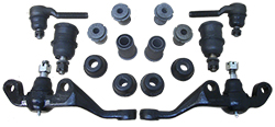 1963-66 Dodge, Plymouth, Chrysler, Mopar A-Body Front Suspension Rebuild Kit, Economy Poly Urethane Bushings