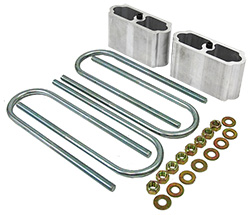 "Lowering Block Kit for 2"" Wide Leaf Springs and 3"" Diameter Axle"