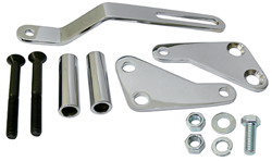 Power Steering Pump Bracket Kit, Chrome, SMALL Block Chevy Engine
