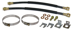 Rear Disc Brake Hoses and Mounting Kit, Rubber