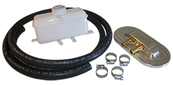 Master Cylinder Remote Fill Reservoir Cap Kit for Chevy Ford Street Rods