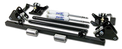 1968-74 Chevy Nova Traction Bar with Shock Relocation Kit and 9-Way Adjustable Drag Shocks