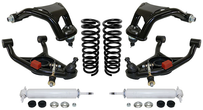 1973-77 Chevy, Pontiac, Buick, Olsmobile, GM A-Body Stage 3 Tubular Control Arm Suspension Kit