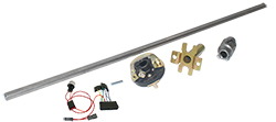 1958-64 Chevy Impala Steering Column Install Kit, 605 Power Steering Gear Box
