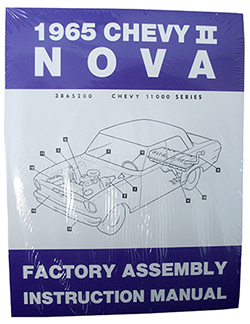 1965 CHEVY NOVA, CHEVY II FACTORY ASSEMBLY MANUAL