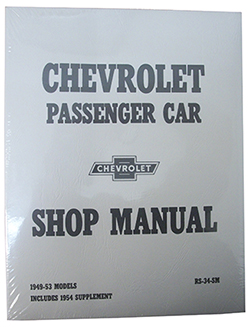 1949-54 CHEVY PASSENGER CAR FACTORY ASSEMBLY MANUAL