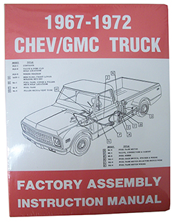 1967-72 CHEVY & GMC TRUCK FACTORY ASSEMBLY MANUAL
