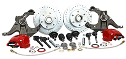 63-70 Chevy C10 Truck, Disc Brake Conversion Kit, 5 and 6-Lug, Stock or Drop Spindle, Deluxe