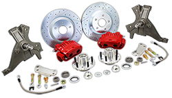 "1973-77 GM A-Body Drop Spindle Disc Brake Conversion Kit, 13"" Rotors, Dual Piston Calipers"