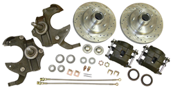 1962-67 Chevy 2 Nova, Front Drop Spindle Disc Brake Conversion Kit