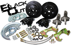 "1967-69 Chevy Camaro ""Black Out Series"" Disc Brake Conversion Kit, OEM 2"" Drop Spindles"