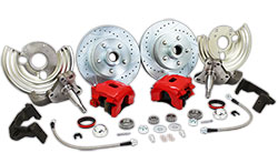 1962-74 MOPAR Chrysler, Dodge, Plymouth Disc Brake Conversion Kit, Stock Height Spindles