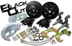 "1962-67 Chevy Nova ""Black Out Series"" Disc Brake Conversion Kit, OEM Spindles"