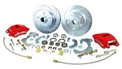 1955-64 Chevy Belair, Impala Front Disc Brake Conversion Kit with Wilwood Calipers