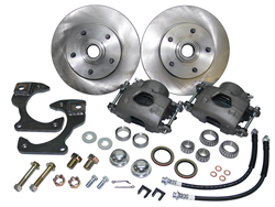 1963-70 CHEVY TRUCK, FRONT STOCK SPINDLE DISC BRAKE WHEEL KIT, 5-LUG (WBK5-6370)