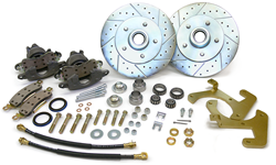 1955-57 Pontiac Fullsize Car Disc Brake Conversion Kit for Stock Spindles 19808