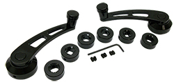 Window Handle Set, Black Anodized Billet Aluminum