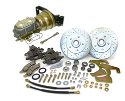 1948-52 Ford F-1 & F-100 Truck Power Disc Brake Conversion Kit, 5-Lug w/ Floor Mount Booster