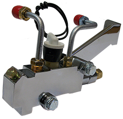 GM Proportioning Valve, AC Delco 172-1353 and 172-1361 Side Mount Kit for GM Master Cylinder, Chromed 18772