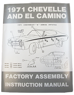 1971 CHEVY CHEVELLE & EL CAMINO FACTORY ASSEMBLY MANUAL