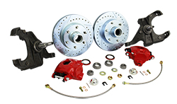 1960-62 Chevy C10 Truck Disc Brake Conversion Kit, Stock or Drop Spindle, 5 or 6 Lug