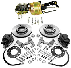 "1955-59 Chevy-GMC Truck Front Power Disc Brake Conversion Kit, 6 x 5.5"" Bolt Pattern, Floor Mount Booster"