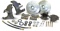 1955-57 Chevy Belair 210 150 Drop Spindle Disc Brake Conversion Kit 17000