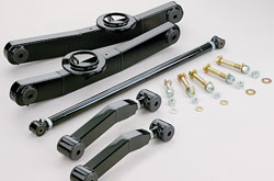 1959-64 Chevy Impala, Full Size Car, Rear Tubular Control Arm Kit, Dual Adjustable Uppers