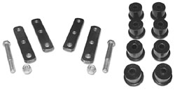 1968-79 CHEVY II/NOVA, LEAF SPRING HEAVY DUTY SHACKLE BUSHING SET (POLY)