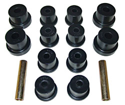 1968-79 CHEVY II/NOVA, REAR MULTI LEAF SPRING BUSHING KIT (POLY URETHANE)(7-1011)