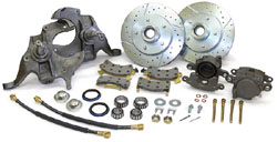1964-77 GM A-BODY, FRONT DROP SPINDLE DISC WHEEL KIT