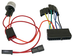 1964-66 GM A-BODY, 4-WAY FLASHER AND WIRE ADAPTER KIT (USE WITH TILT COLUMN)(37542)