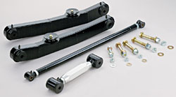 1965-66 Chevy Impala, Full Size Car, Rear Tubular Control Arm Kit, Single Adjustable Upper