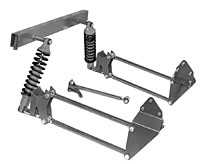 1973-87 CHEVY TRUCK REAR 4-BAR KIT, STEEL COIL-OVERS