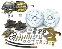 1953-56 Ford F-100 Truck Power Disc Brake Conversion Kit, 5-Lug w/ Floor Mount Booster