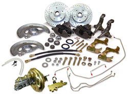 1964-72 Chevy, Pontiac, Buick, Oldsmobile, GM A Body, Front Stock Spindle Power Disc Brake Conversion Kit 17717