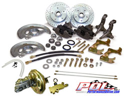 1967-69 Chevy Camaro and Pontiac Firebird Front Stock Spindle Power Disc Brake Conversion Kit