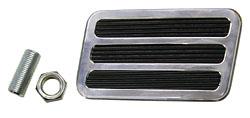 Brake Pedal, Polished Aluminum, 3 Inserts, Universal