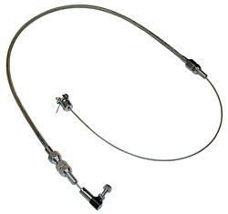 STAINLESS BRAIDED THROTTLE CABLE (POL7208)