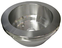 SMALL BLOCK CHEVY LWP CRANKSHAFT PULLEY, ALUMINUM SINGLE GROOVE