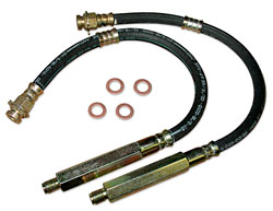 1968-75 CHEVY II/NOVA, REAR REPLACEMENT HYDRAULIC BRAKE HOSE, DISC BRAKES (EACH)