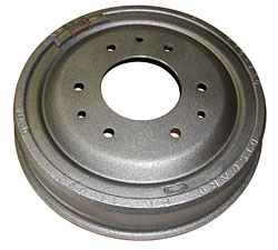"Brake Drum, Front, Non Finned Type, 9.5"" Diameter with 2.5"" Wide Brake Shoe"