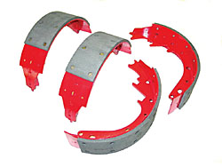 1962-74 CHEVY II/NOVA, REAR HIGH PERFORMANCE BRAKE SHOES (SET OF 4)
