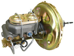 "1966-70 CHEVY FULL SIZE, 11"" POWER BRAKE BOOSTER KIT (ZINC)"
