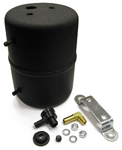 Vaccum Reservoir Canister, Remote Type, Power Brakes, Black
